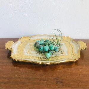 Vintage Italian gilt wood tray